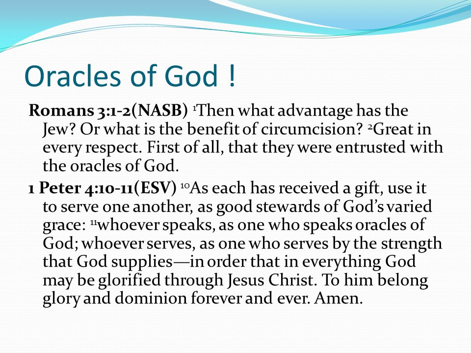 Oracles of God !
