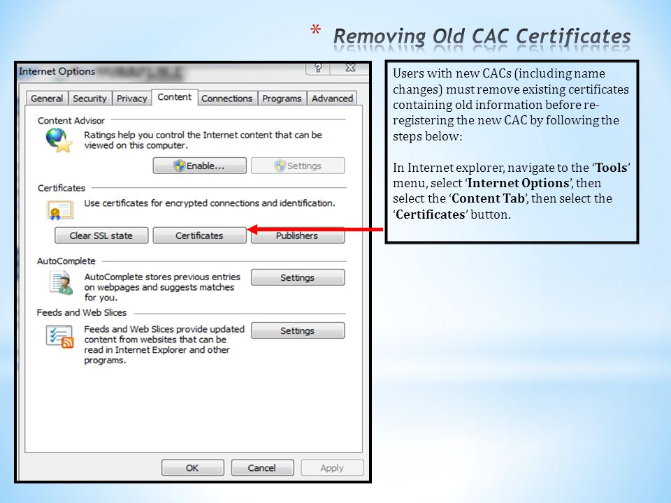 Removing Old CAC Certificates