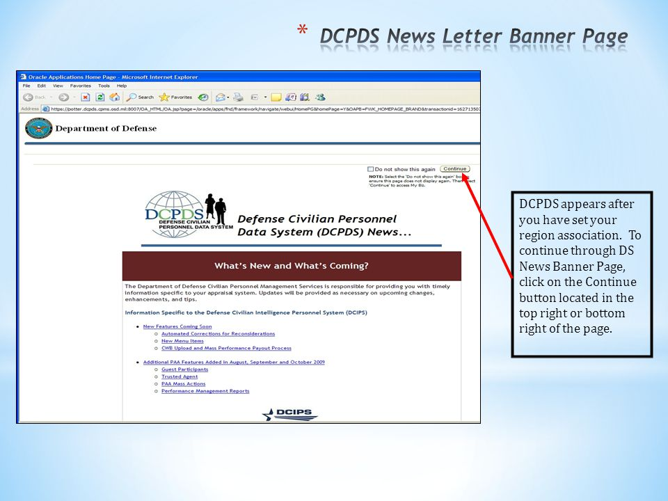DCPDS News Letter Banner Page