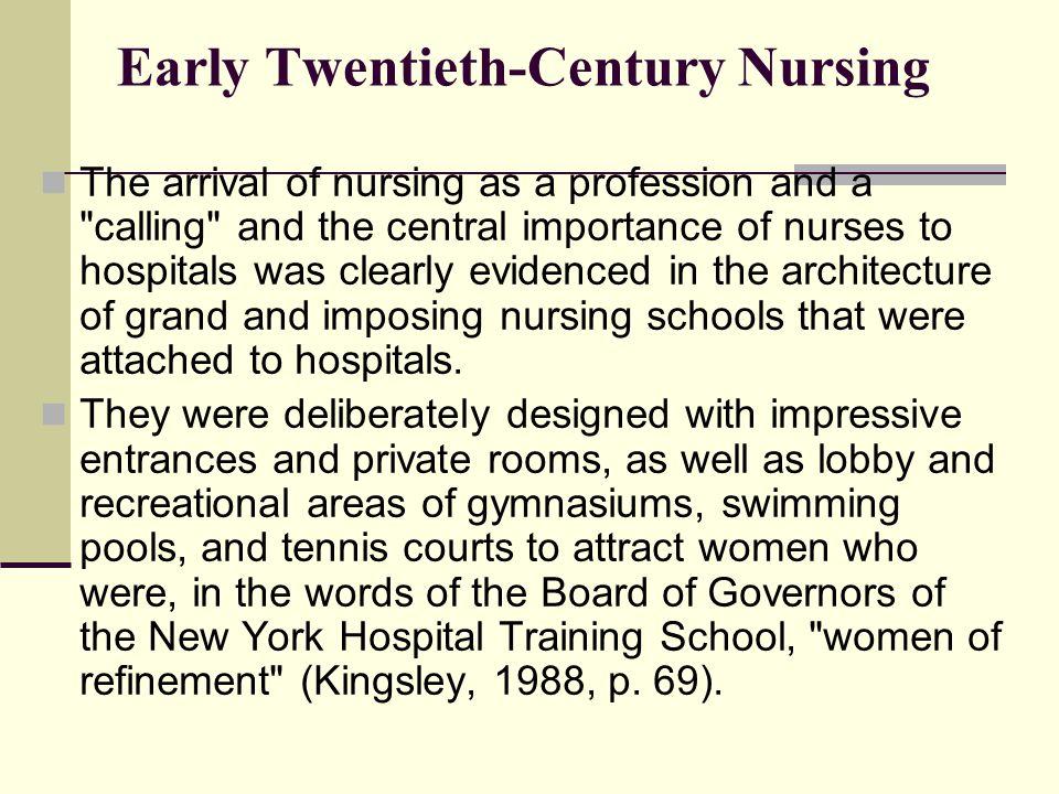Early Twentieth-Century Nursing