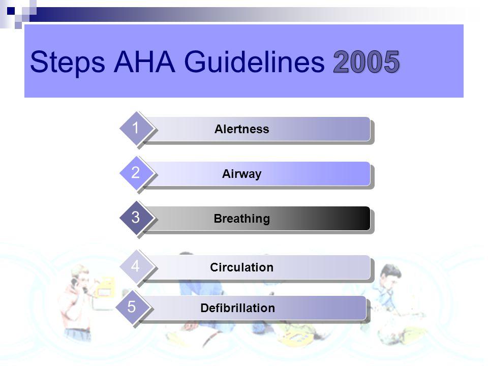 Steps AHA Guidelines 2010 Steps AHA Guidelines 2005 1 2 3 4 5