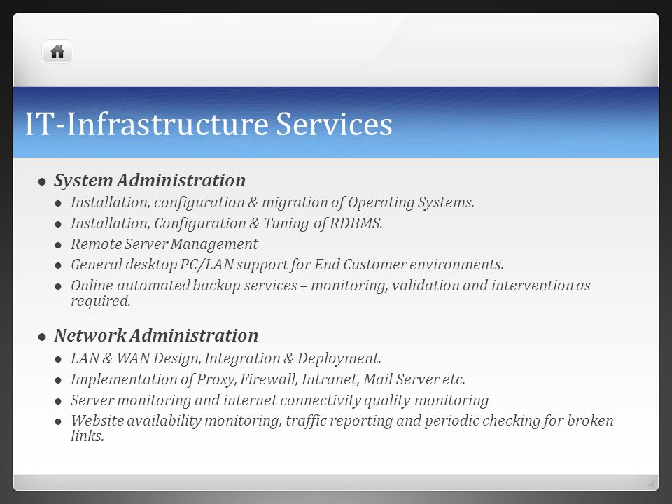 IT-Infrastructure Services