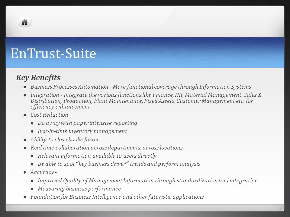 EnTrust-Suite Key Benefits