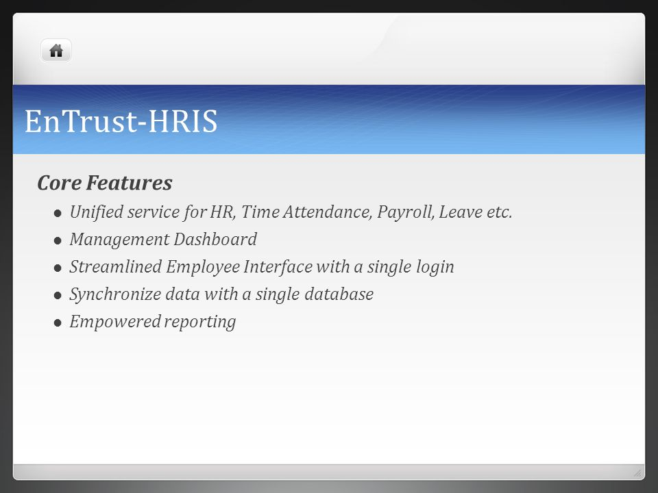 EnTrust-HRIS Core Features