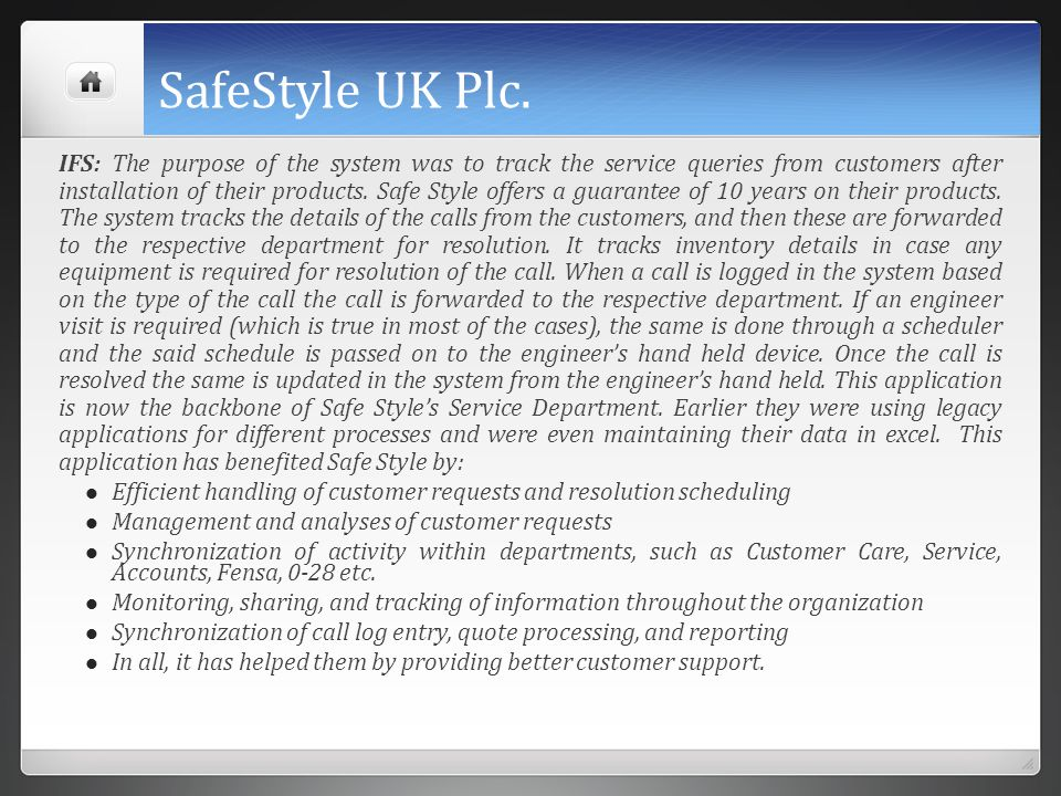 SafeStyle UK Plc.