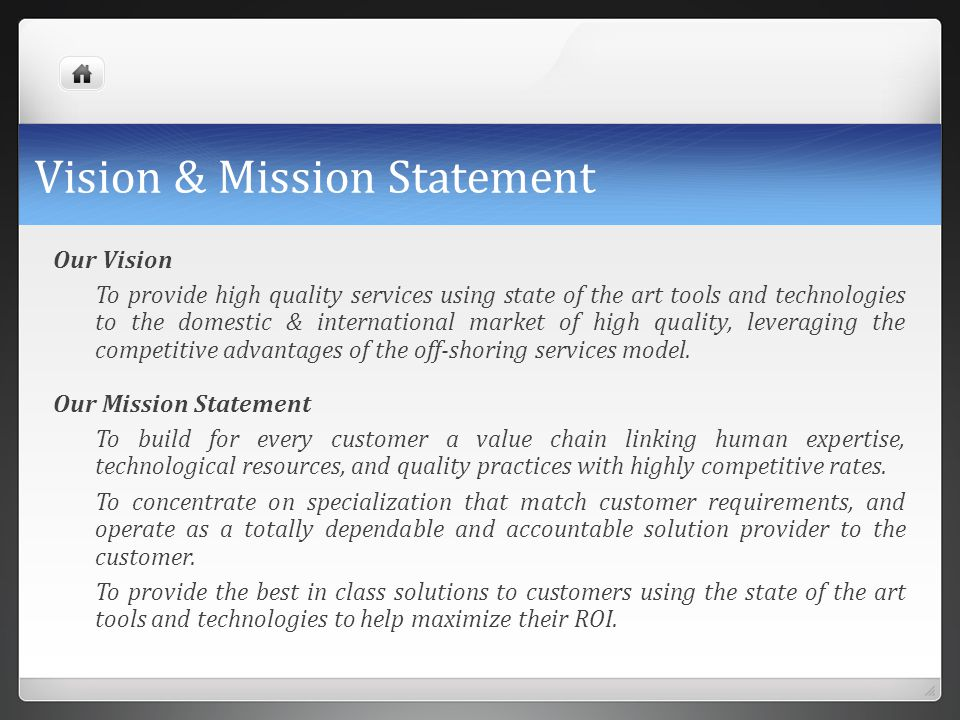Vision & Mission Statement
