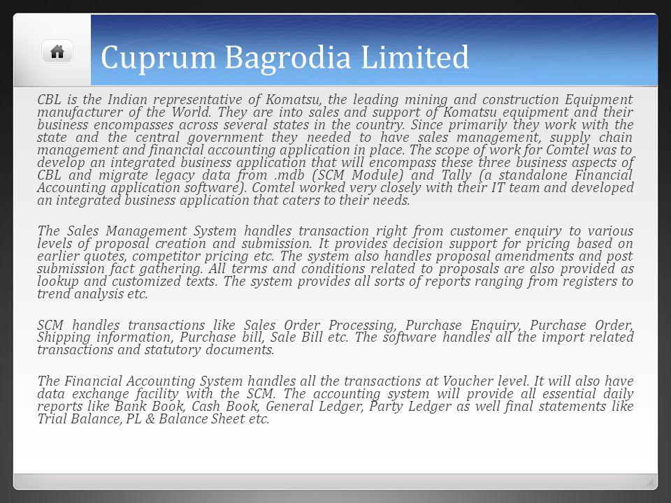 Cuprum Bagrodia Limited