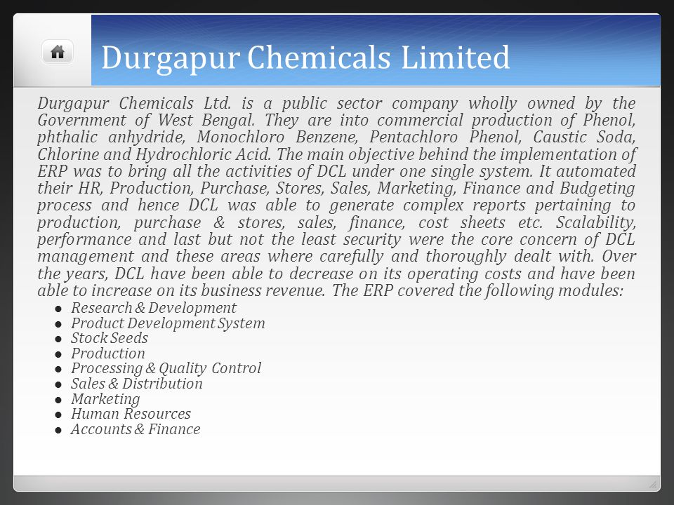 Durgapur Chemicals Limited