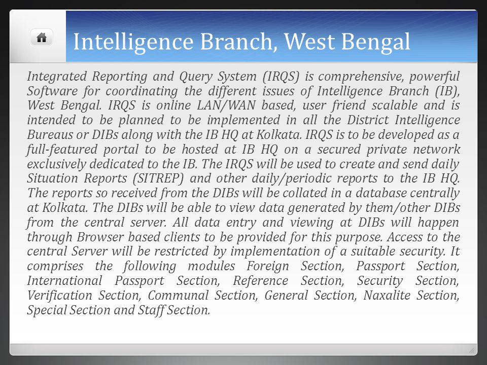 Intelligence Branch, West Bengal