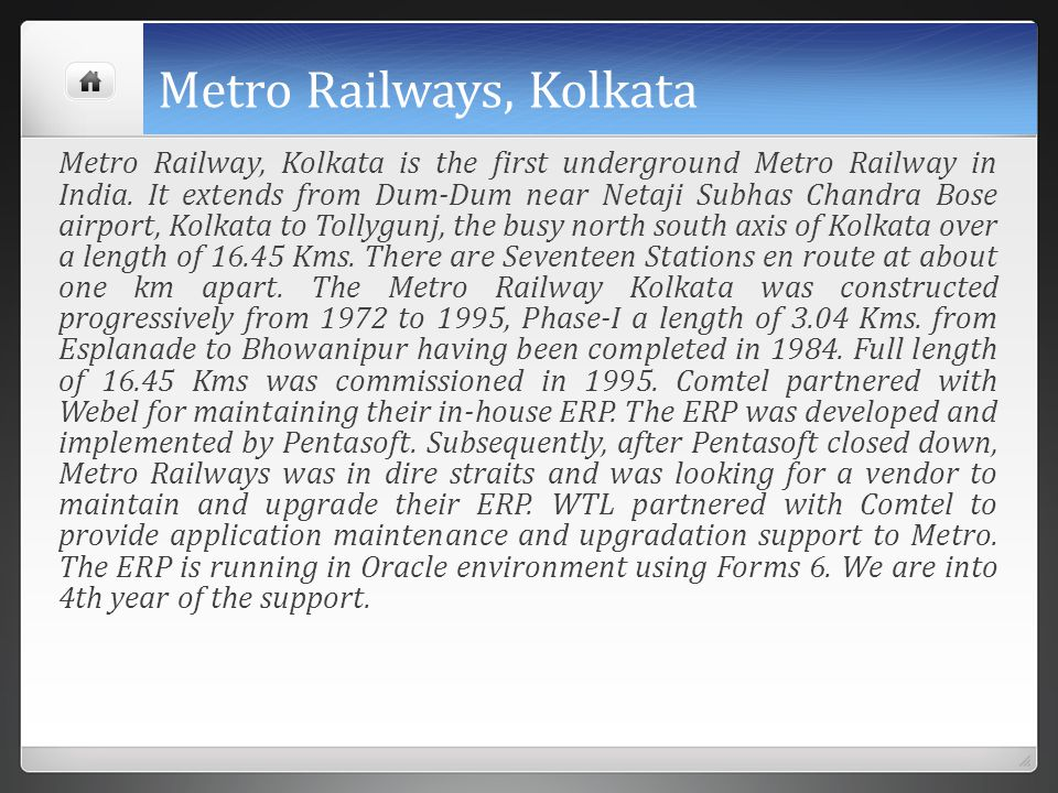 Metro Railways, Kolkata
