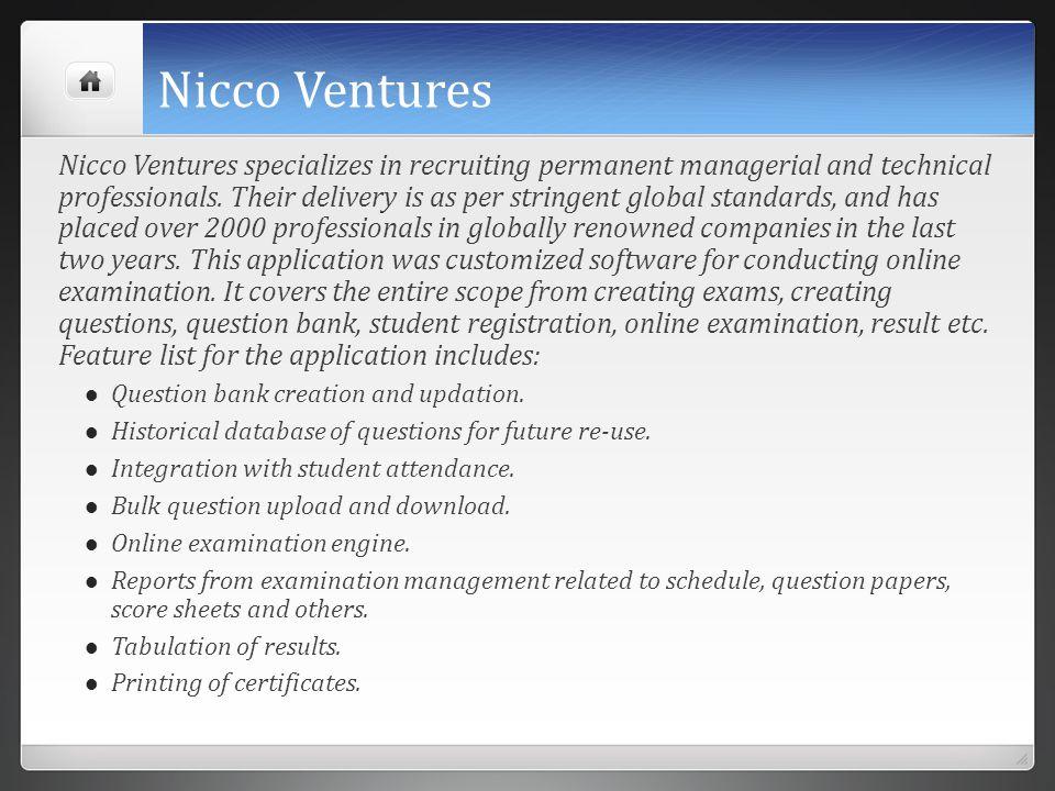Nicco Ventures