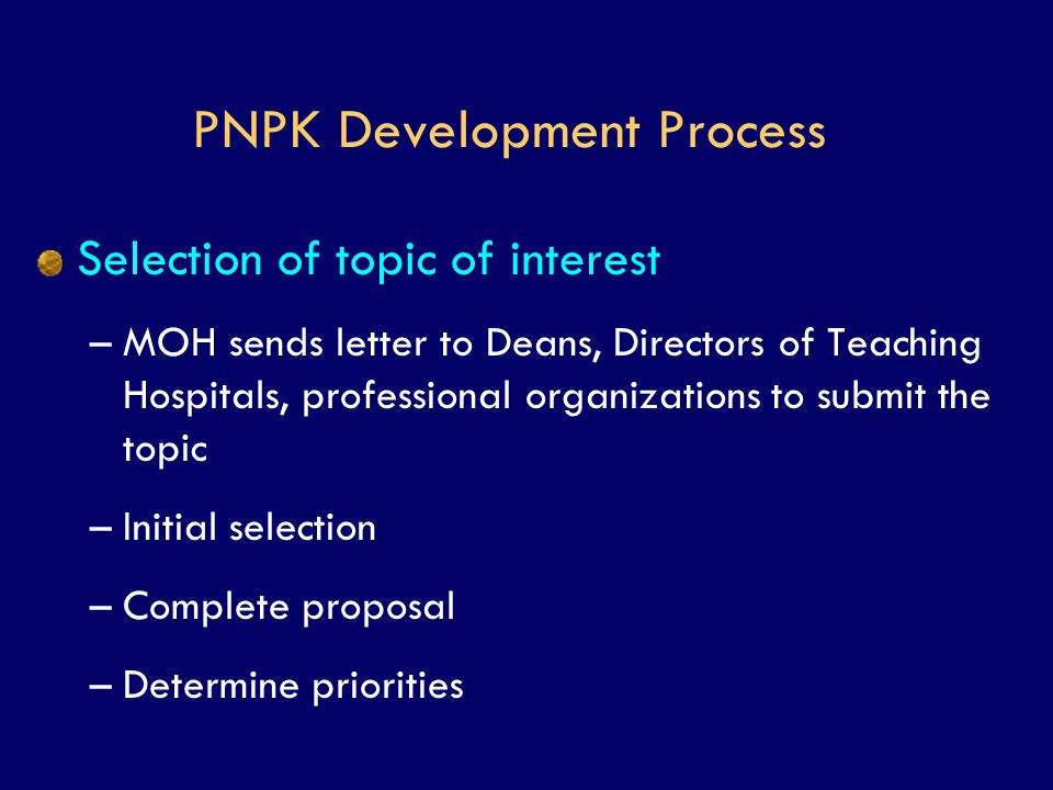 PNPK Development Process