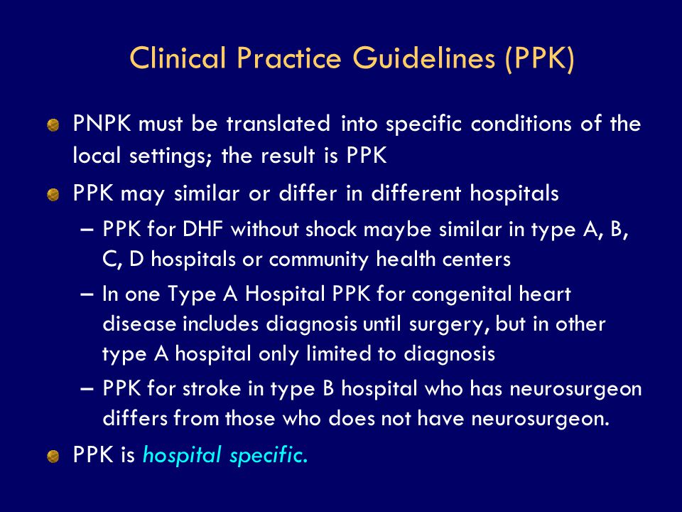 Clinical Practice Guidelines (PPK)