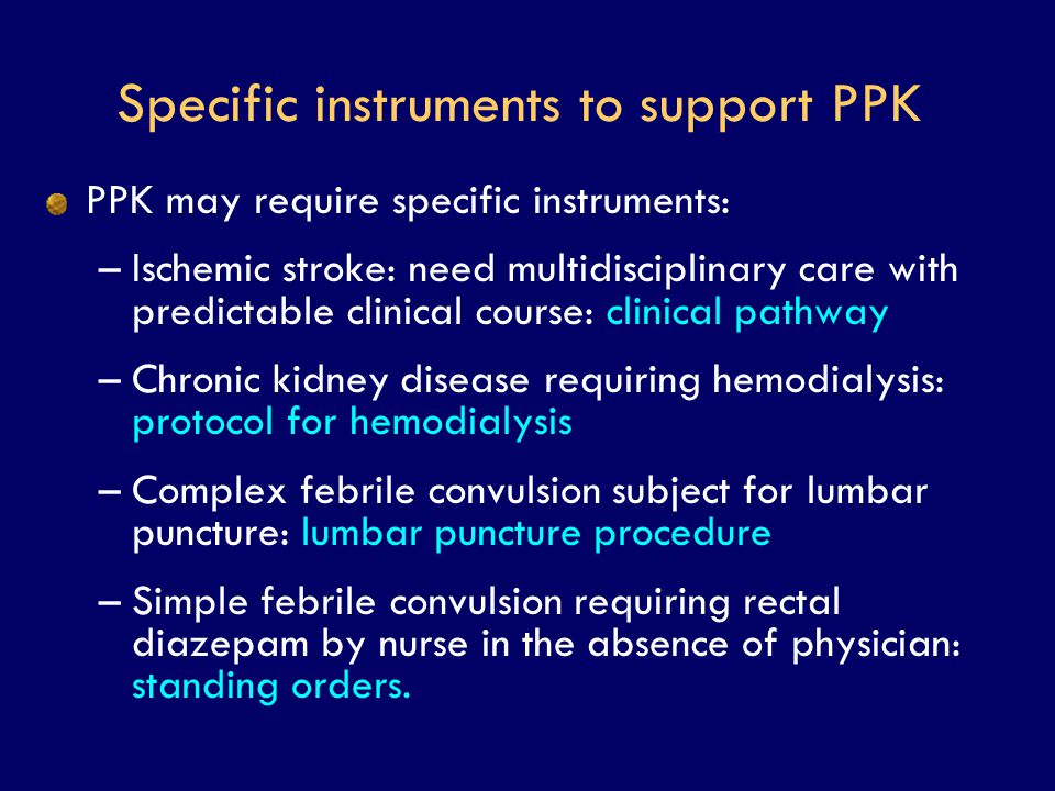 Specific instruments to support PPK