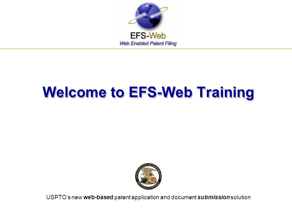 Welcome to EFS-Web Training