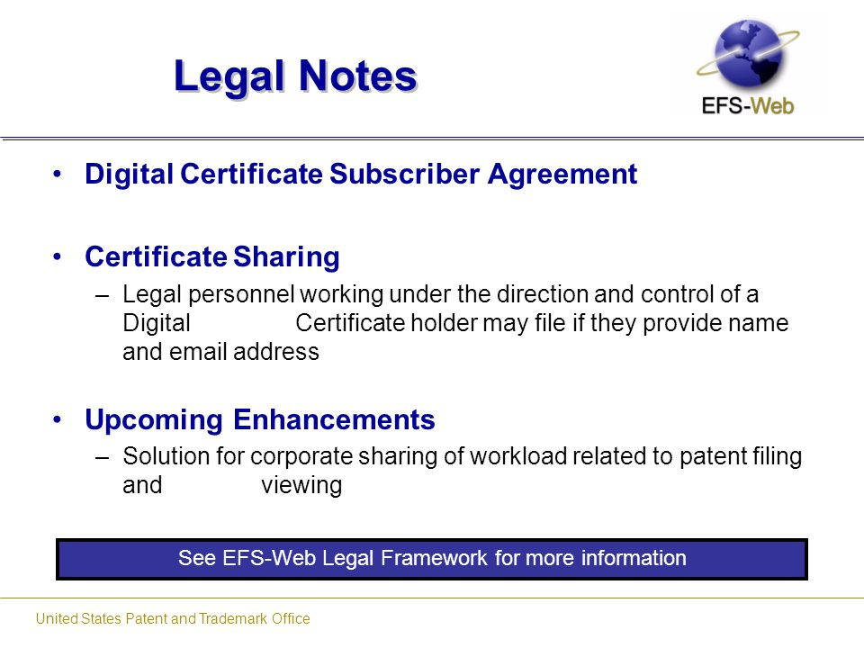 Legal Notes Digital Certificate Subscriber Agreement