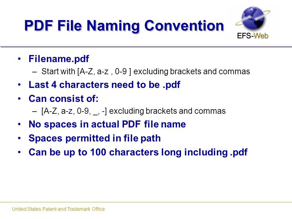PDF File Naming Convention