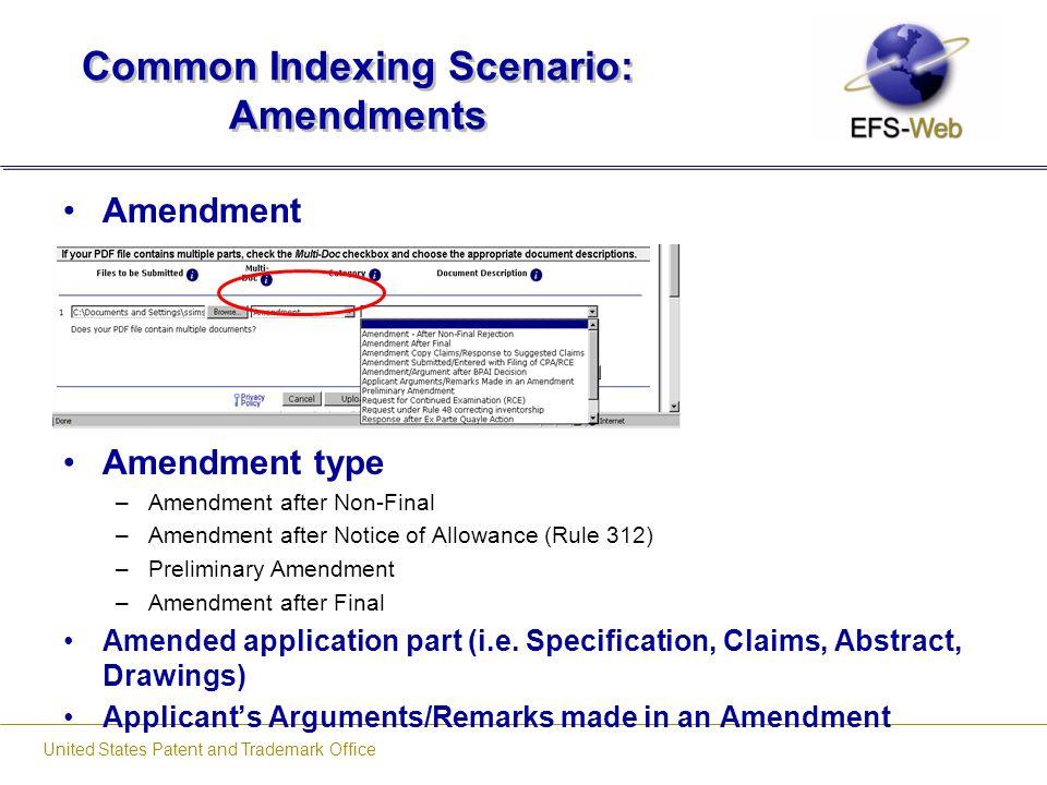 Common Indexing Scenario: Amendments