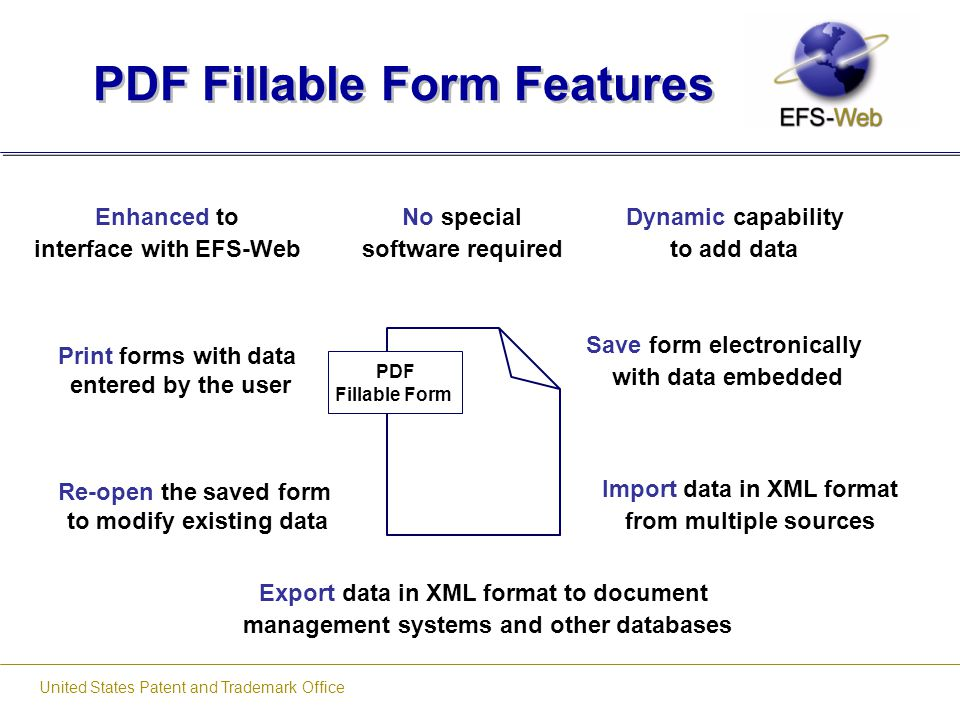 PDF Fillable Form Features