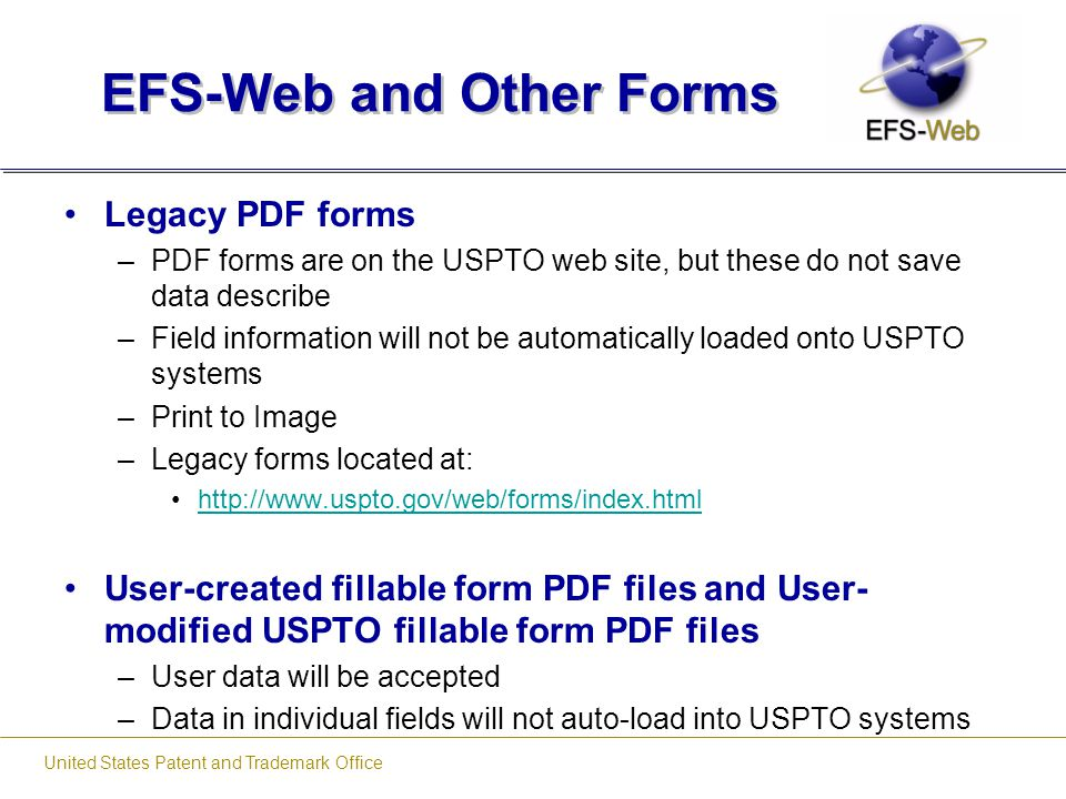 EFS-Web and Other Forms
