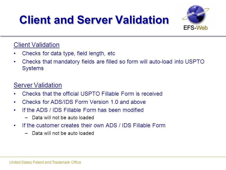 Client and Server Validation