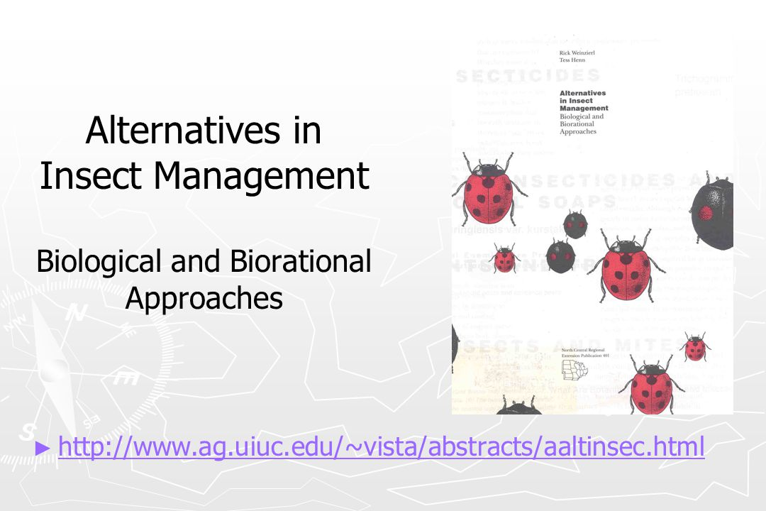 Alternatives in Insect Management Biological and Biorational Approaches