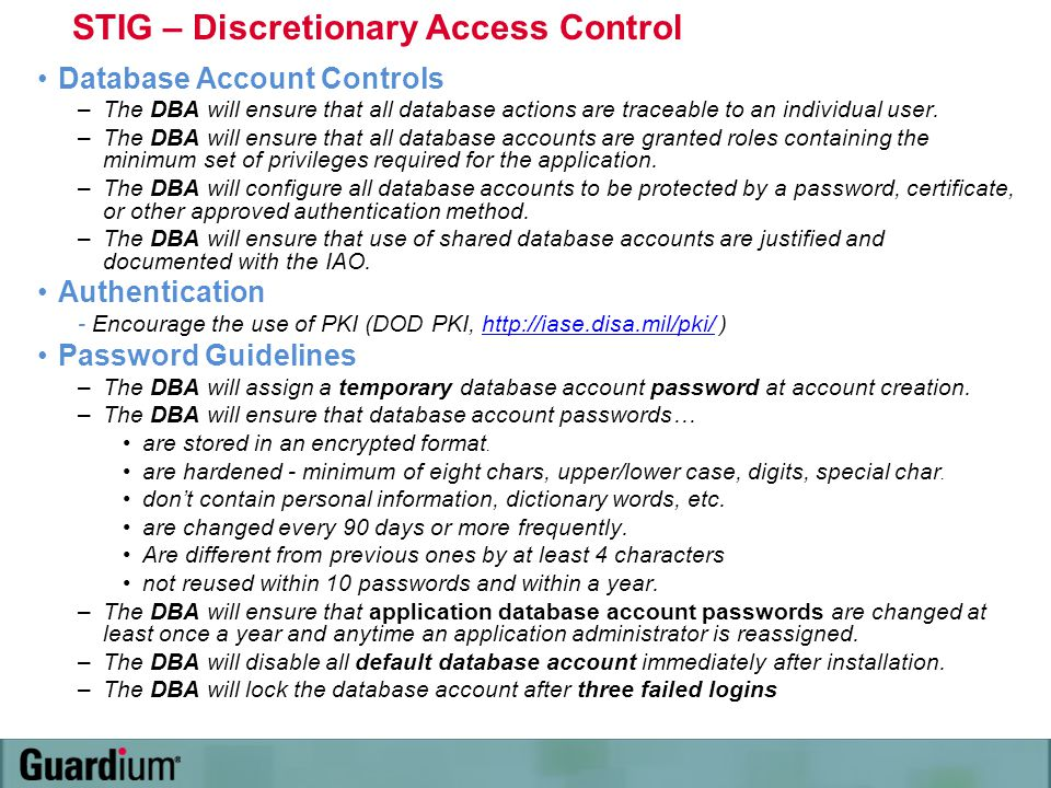 STIG – Discretionary Access Control