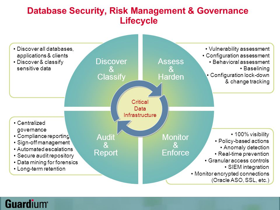 Database Security, Risk Management & Governance Lifecycle