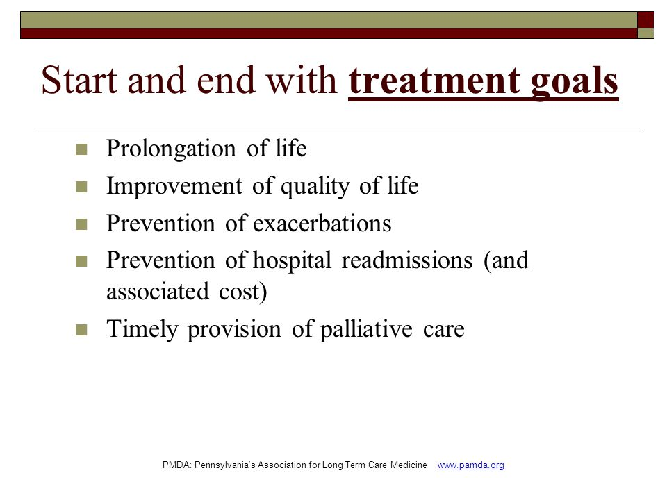 Start and end with treatment goals