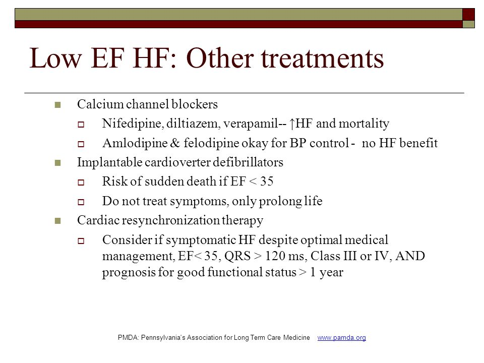 Low EF HF: Other treatments