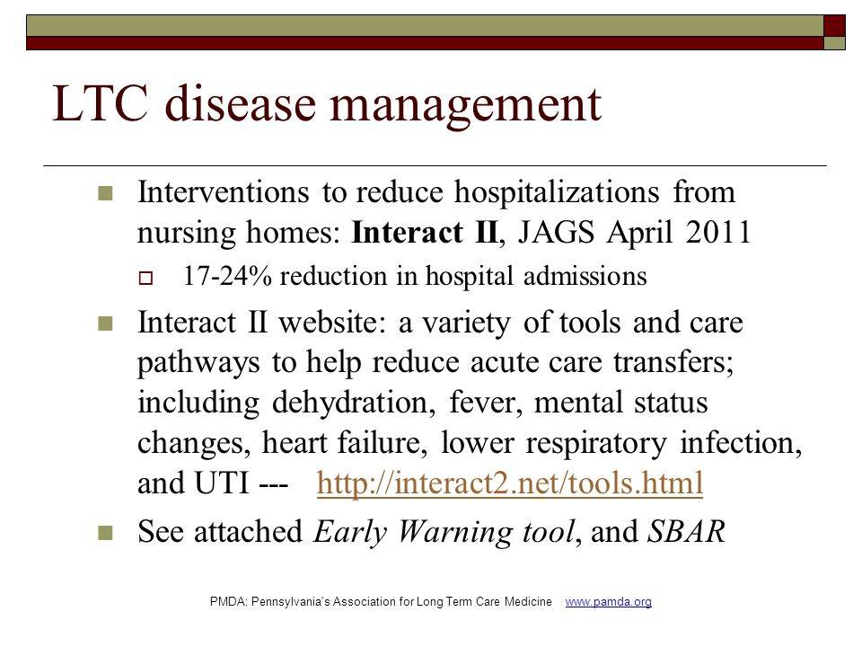 LTC disease management
