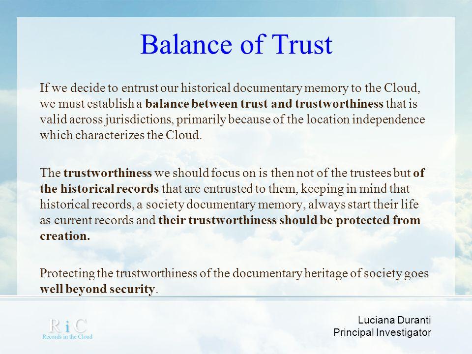 Balance of Trust