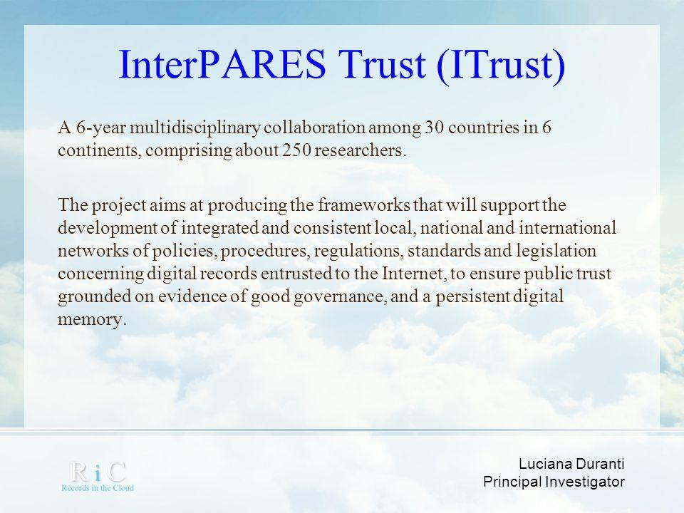 InterPARES Trust (ITrust)
