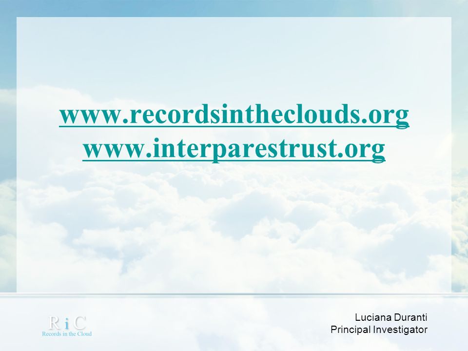 www.recordsintheclouds.org www.interparestrust.org