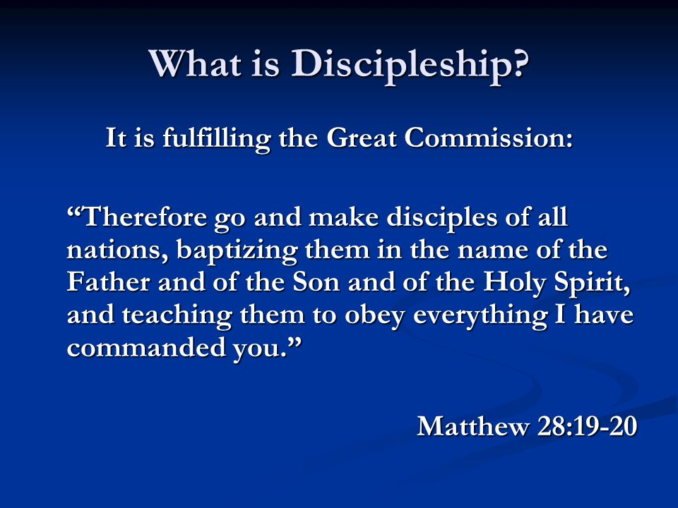 It is fulfilling the Great Commission: