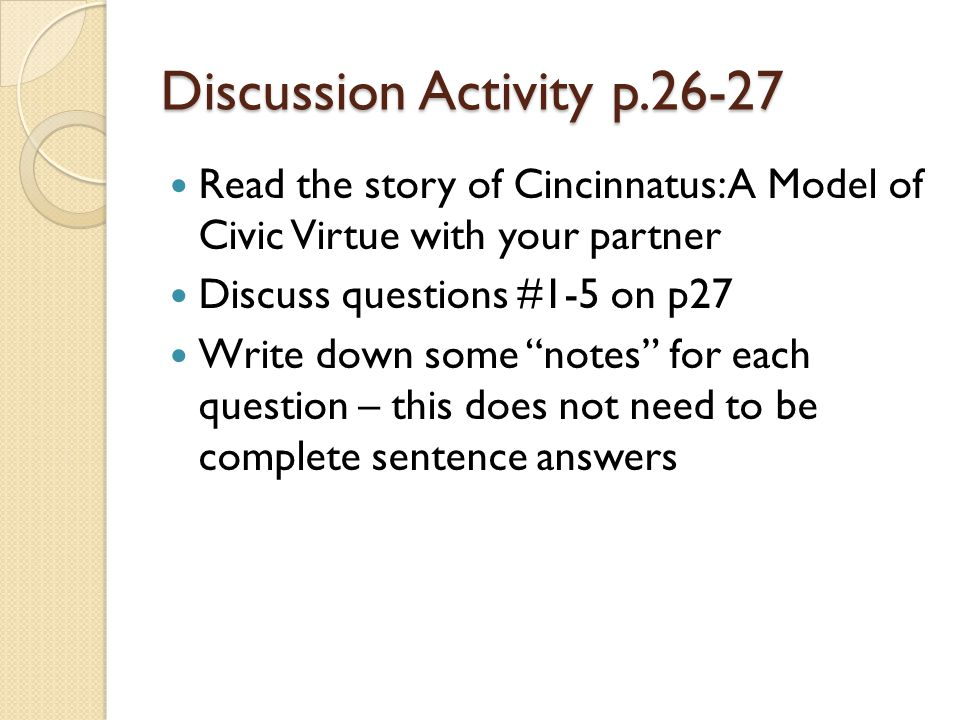 Discussion Activity p.26-27