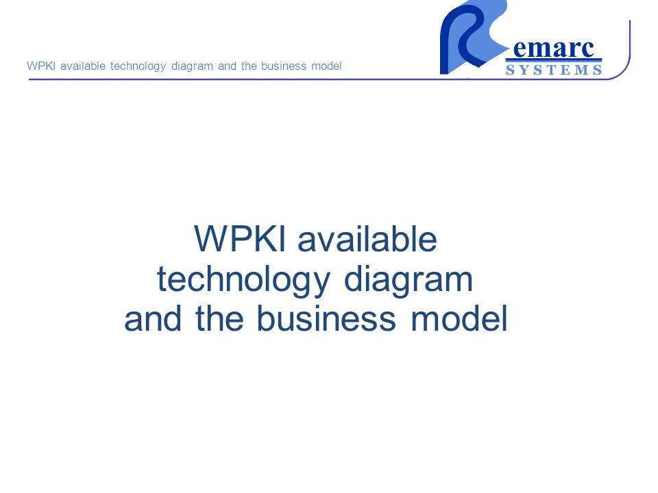 WPKI available technology diagram and the business model