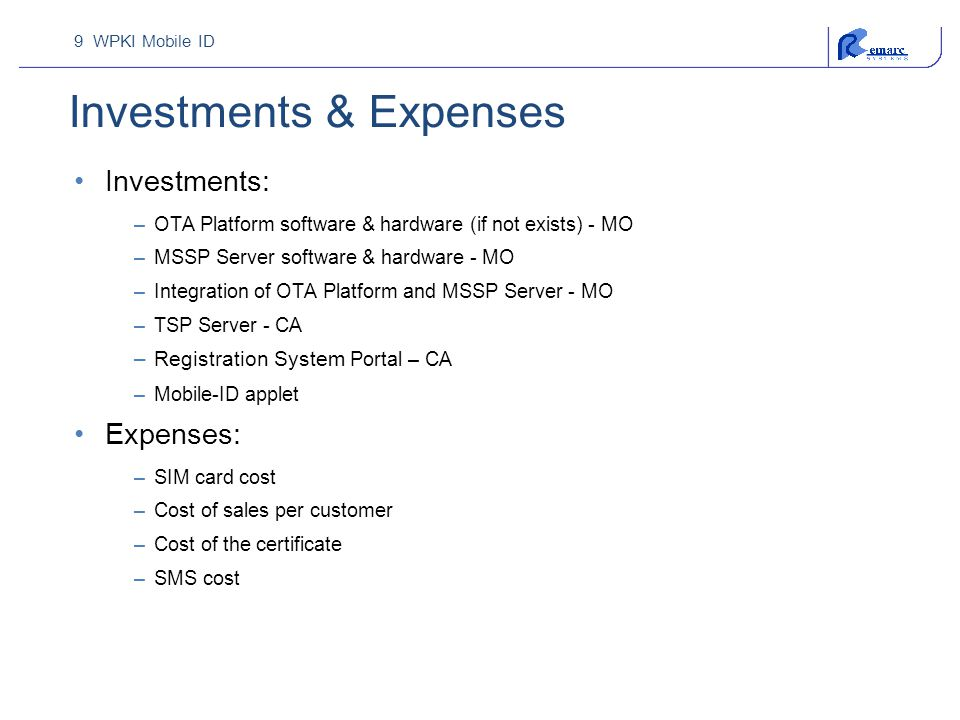 Investments & Expenses