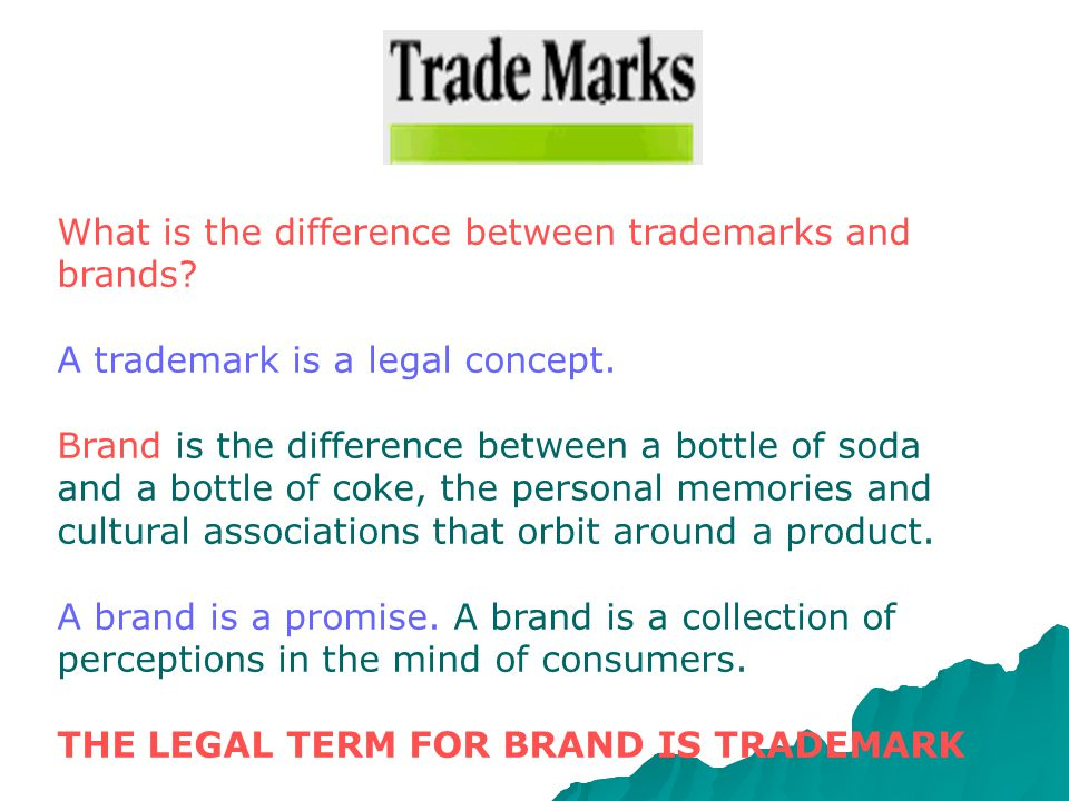 What is the difference between trademarks and brands