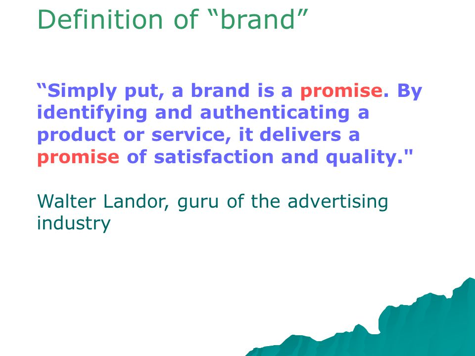 Definition of brand