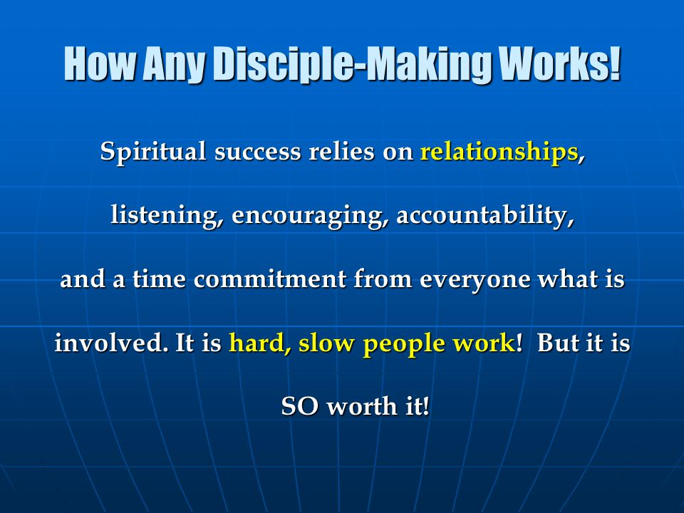 How Any Disciple-Making Works!