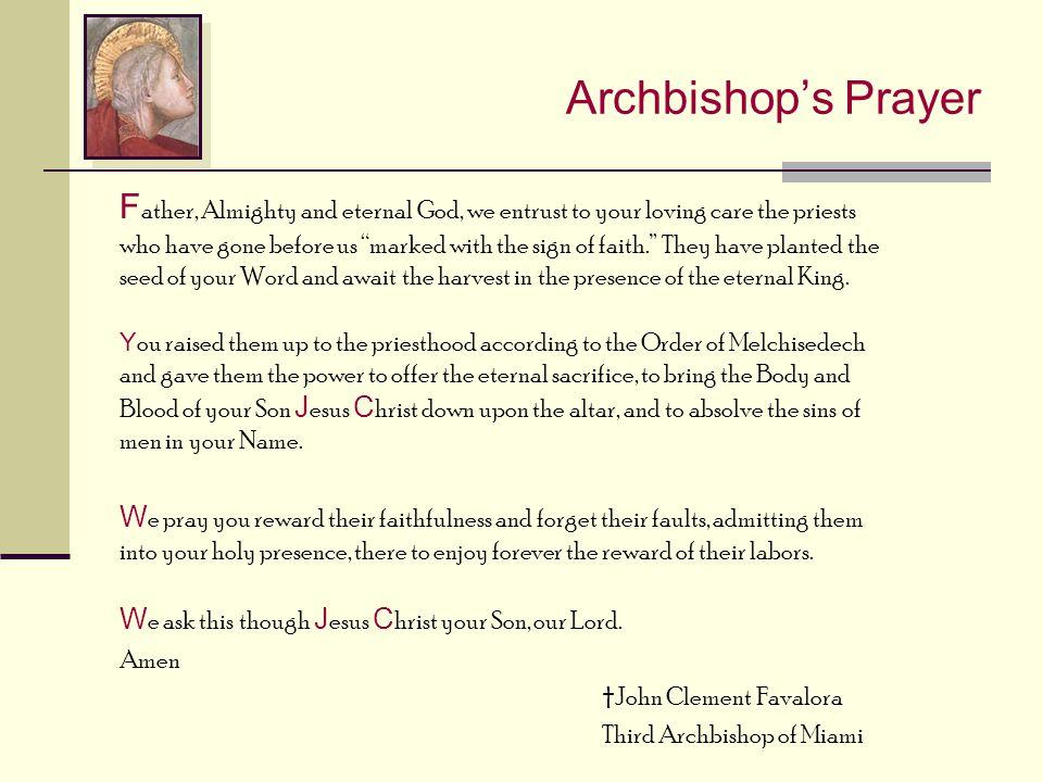 Archbishop's Prayer