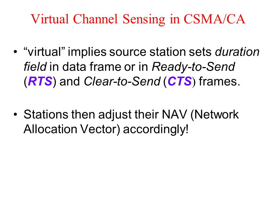 Virtual Channel Sensing in CSMA/CA