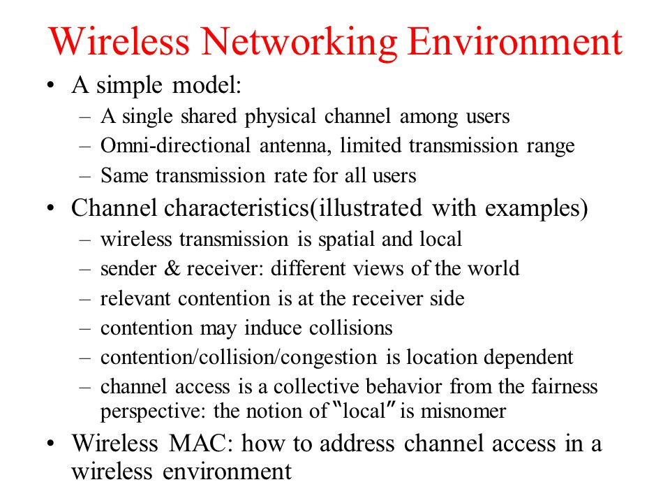 Wireless Networking Environment