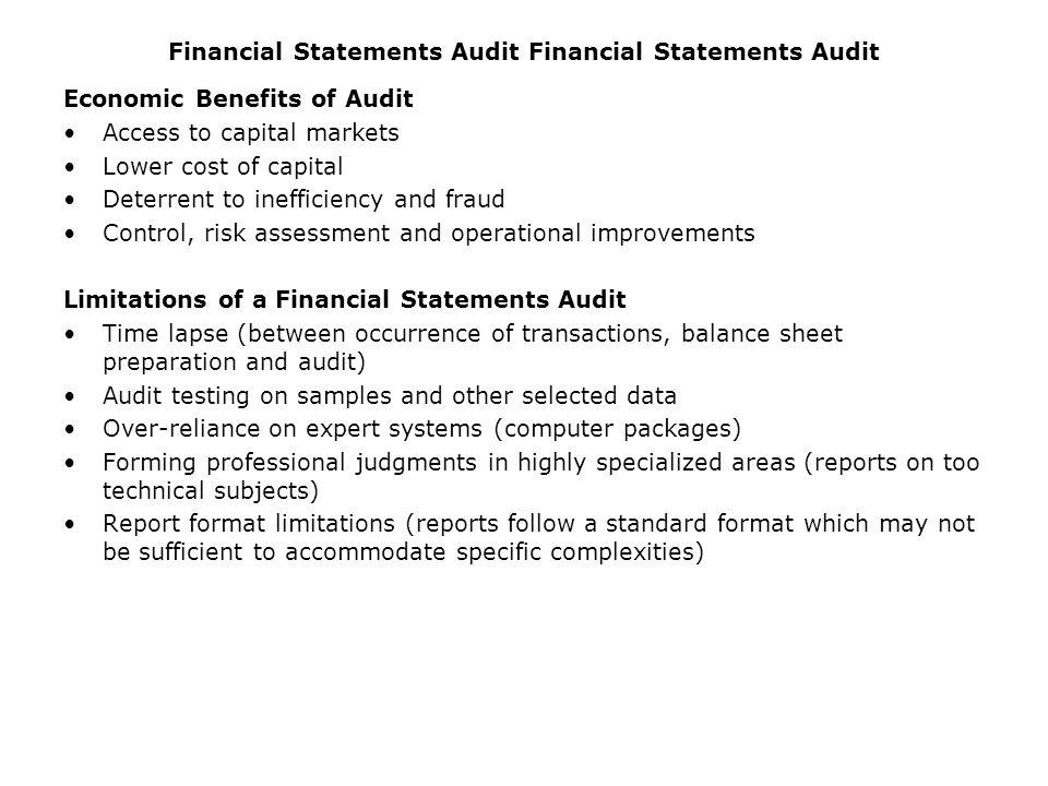 Financial Statements Audit Financial Statements Audit