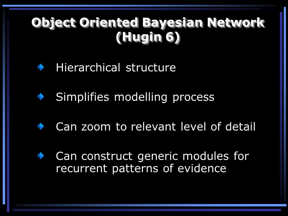 Object Oriented Bayesian Network (Hugin 6)