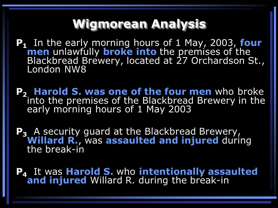 Wigmorean Analysis