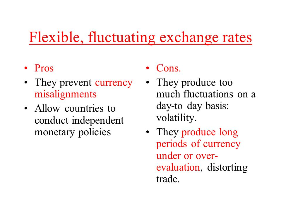 Flexible, fluctuating exchange rates