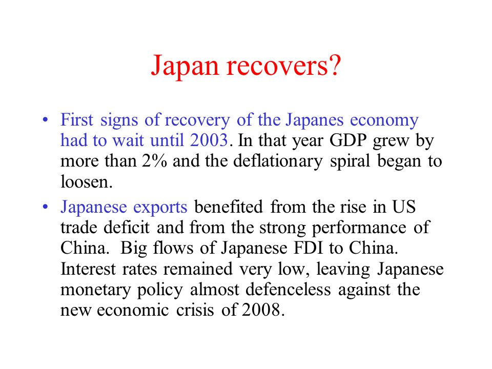 Japan recovers
