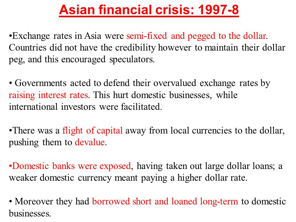 Asian financial crisis: 1997-8